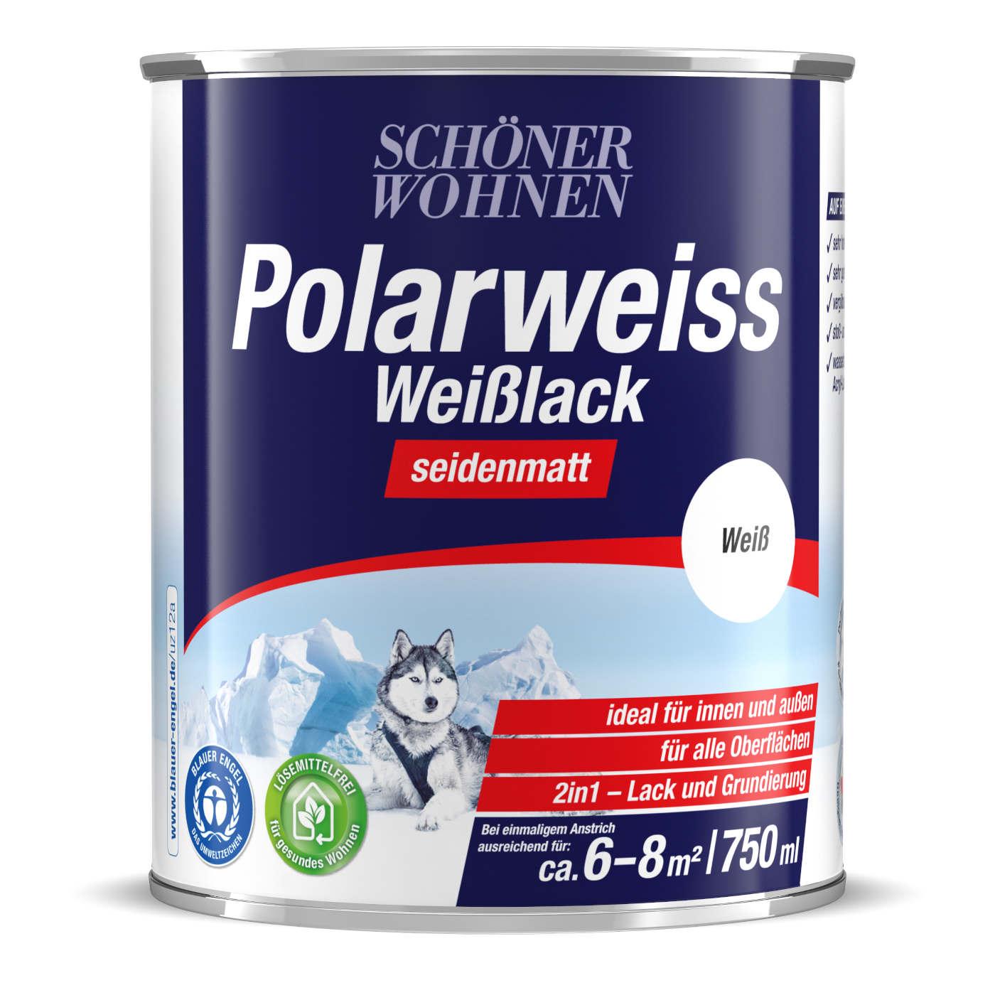 750ml Polarweiss Weisslack Seidenmatt Schoner Wohnen Lacke Farben
